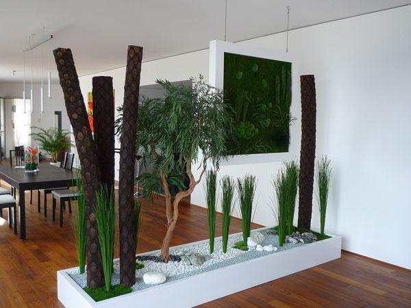 Живая перегородка растениями