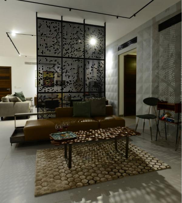 Декоративная перегородка в гостиной