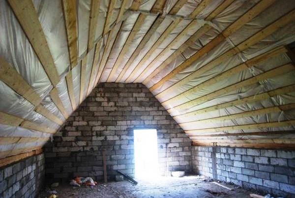 Проект дома 8 на 8 с мансардой из пеноблоков