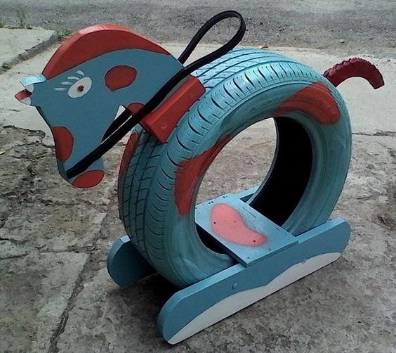 Поделки из шин для детской площадки