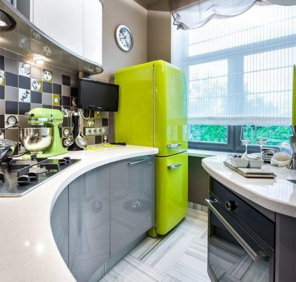 Салатовый холодильник