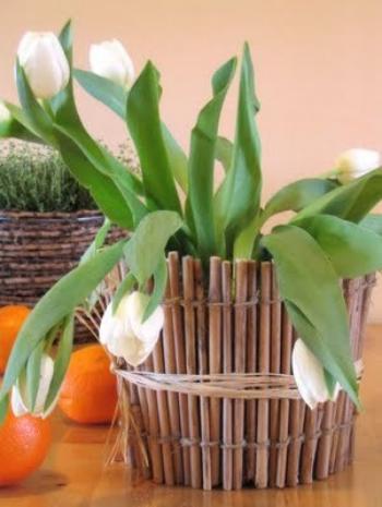 Кашпо для цветов в саду своими руками