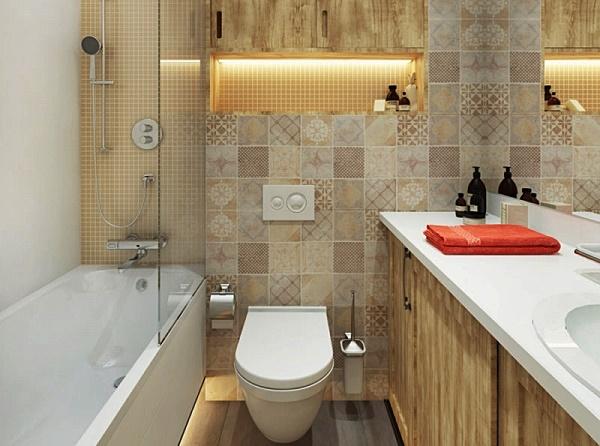 Ремонт ванной комнаты с туалетом на 3 кв м