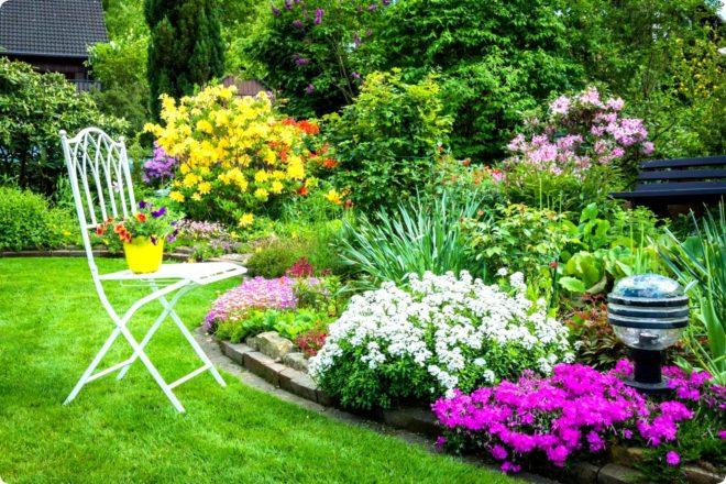 Цветочные клумбы в саду фото наиболее