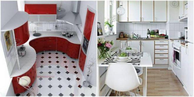 Дизайн кухни 5 кв м с холодильником – лучшие идеи