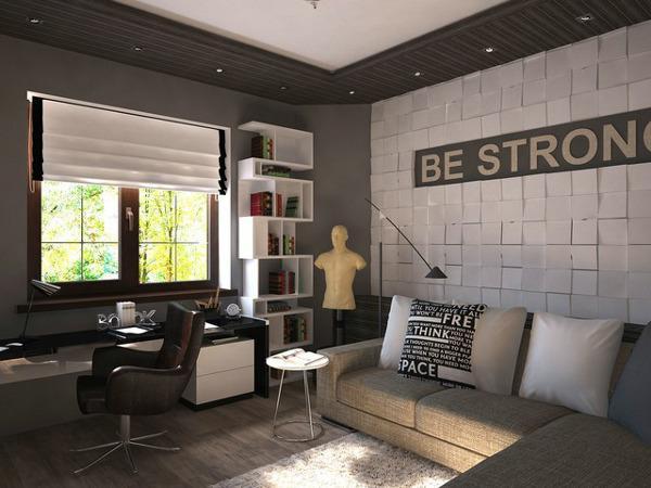 Дизайн комнаты в современном стиле на 12 кв.м