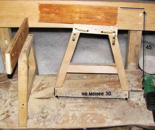 Как сделать скамейку-трансформер своими руками