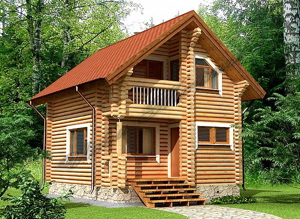 Дачный домик с баней под одной крышей