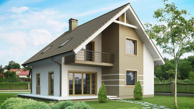 Мансардные дома 9 на 9 метров: подборка лучших проектов