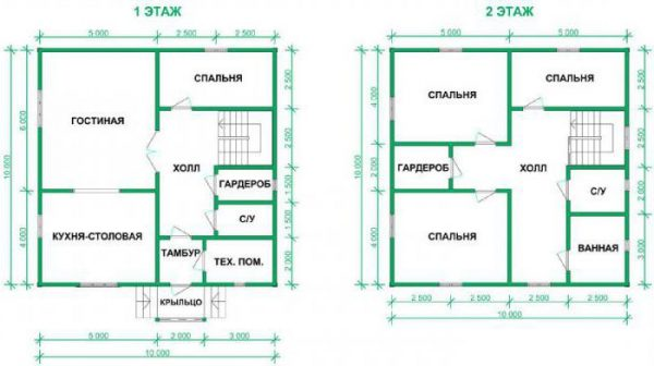 2 этажа