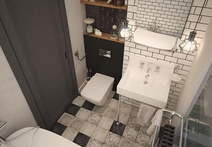 Идеи ремонта в совмещённой ванной 4 кв. м