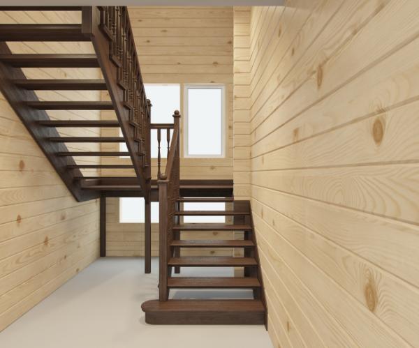 Недорогие лестницы из дерева для дома
