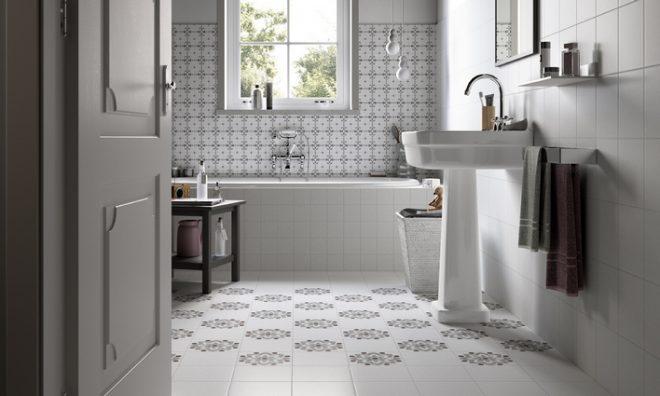 Укладка плитки на пол в ванной