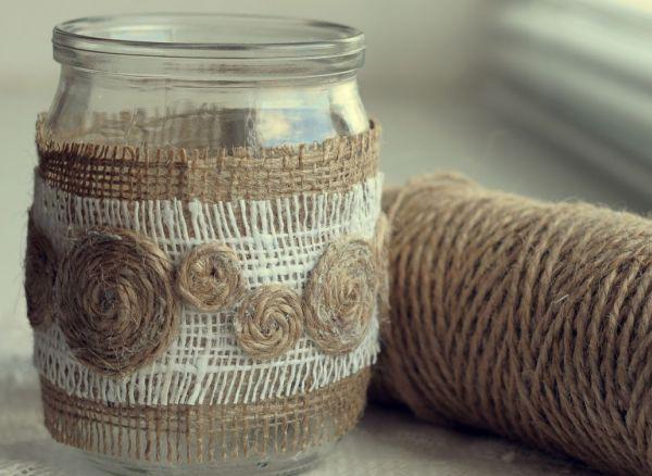 Dekor-banki-svoimi-rukami-12 Как сделать вазу из банки своими руками: 6 способов и 50 фото