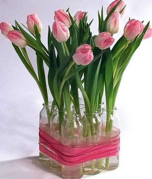 decorate-your-plain-glass-13 Как сделать вазу из банки своими руками: 6 способов и 50 фото