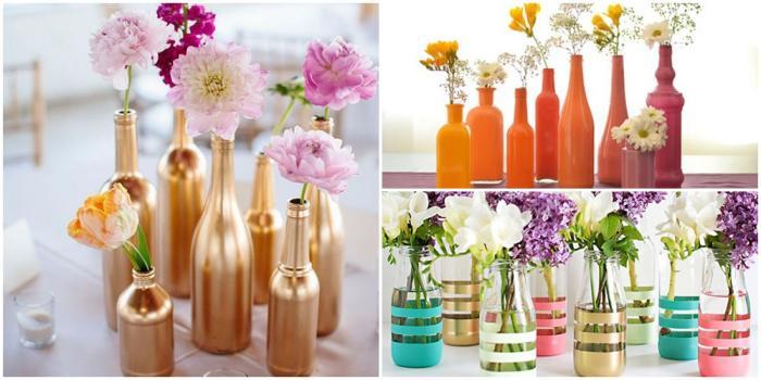garrafas-decoradas Как сделать вазу из банки своими руками: 6 способов и 50 фото