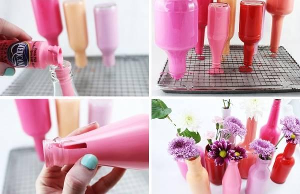 kak-sdelat-vasy-iz-butylok Как сделать вазу из банки своими руками: 6 способов и 50 фото