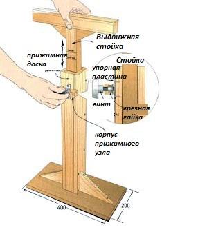 Самодельная стойка для дрели