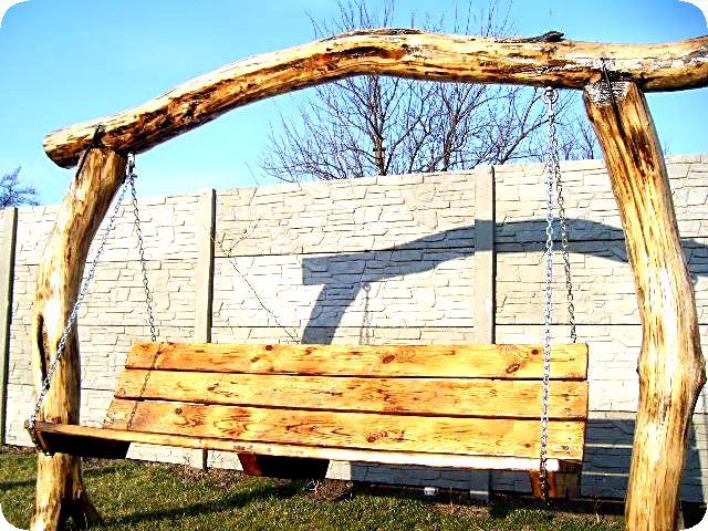 Как сделать качели из дерева