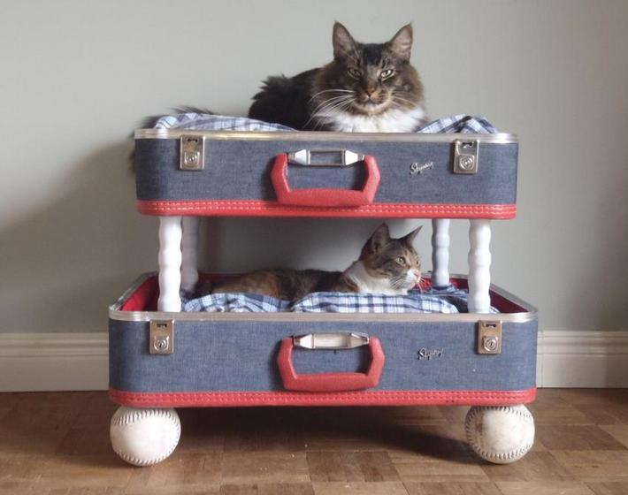 Как сделать лежанку для кошки