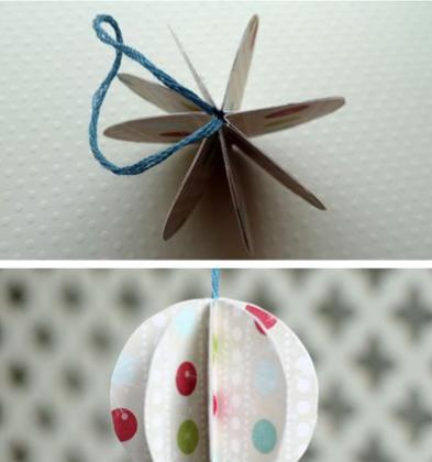 Игрушки на елку из бумаги
