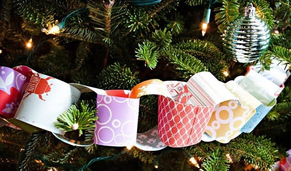 Новогодняя гирлянда из бумаги