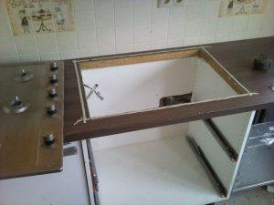Установка варочной панели в столешницу