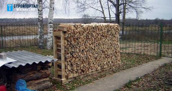 Как сделать поленницу для дров