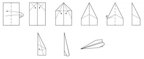 Самолет из бумаги, чтобы летал на 100 метров