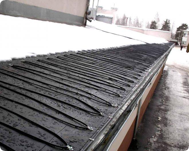 Приспособление для очистки снега с крыши