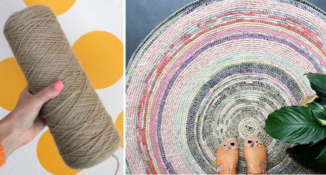 Вязаные коврики для домашнего уюта