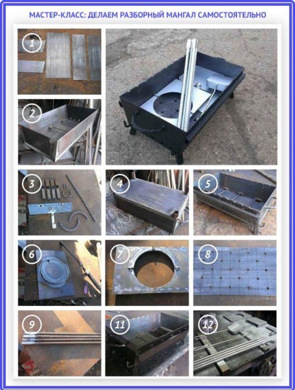 Как сделать вертикальный мангал