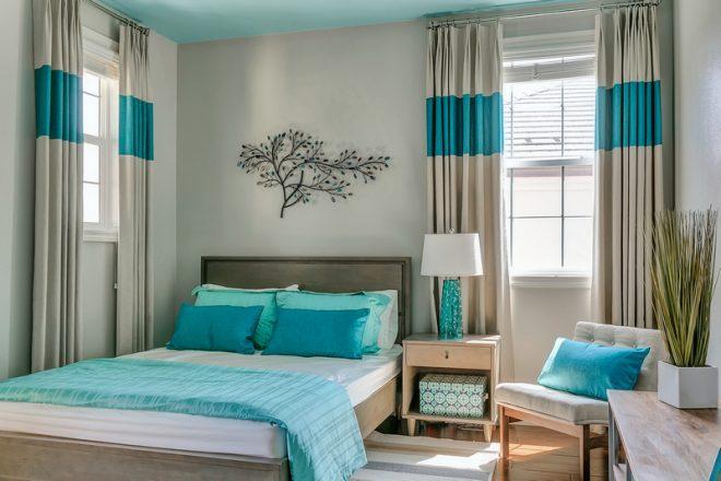 Современный дизайн спальни на 15 кв.м