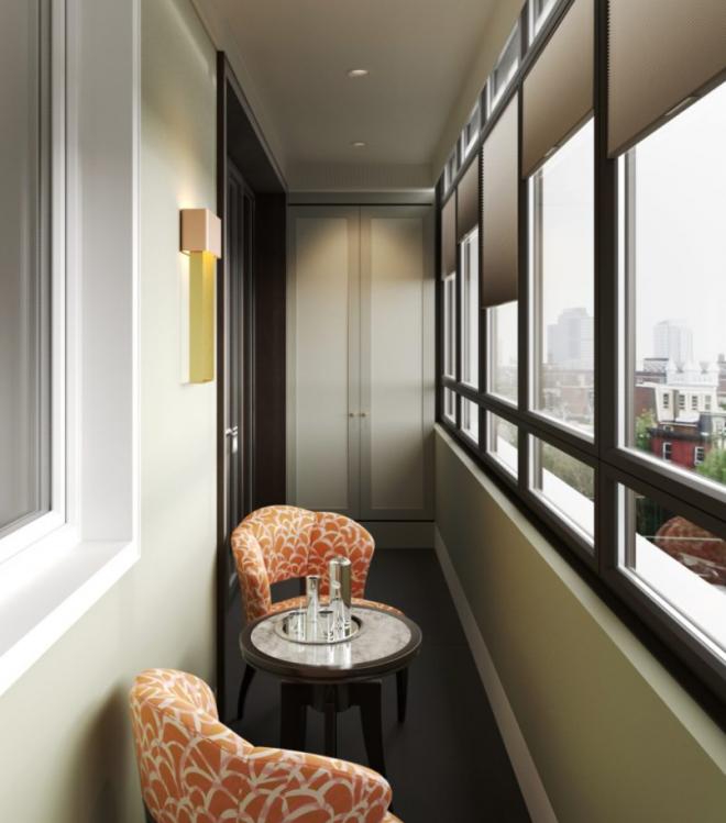 Дизайн балкона на 6 метров