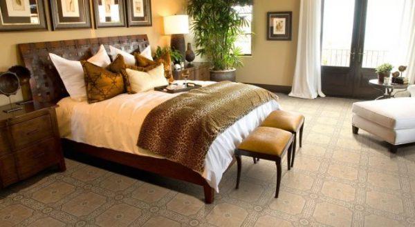 Идеи оформления спальни: выбор линолеума