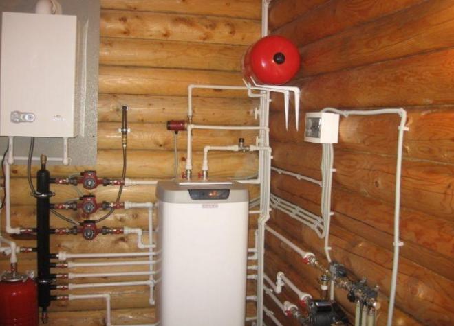 Как установить газовый котёл в деревянном доме