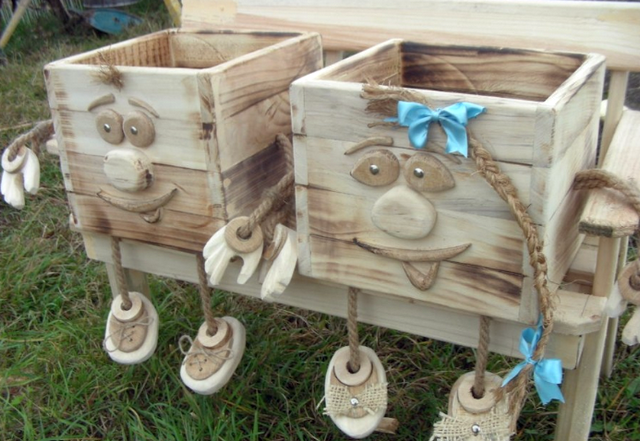 Интересные поделки из дерева для сада и дачи