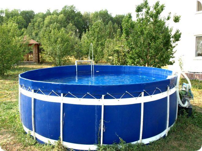 Как установить каркасный бассейн на даче