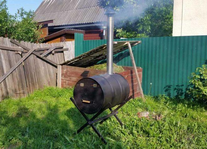 Как сделать бочку для сжигания мусора на даче