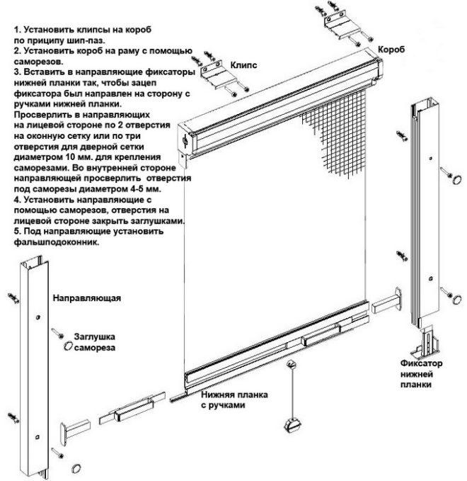 Как поставить москитную сетку на пластиковое окно