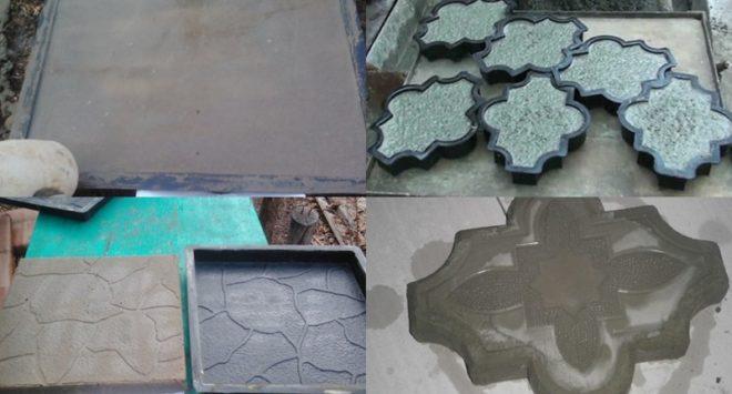 Тротуарная плитка своими руками без вибростола