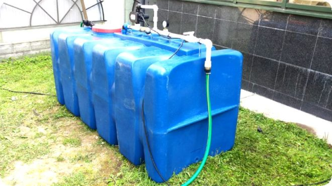 Дачная емкость для воды