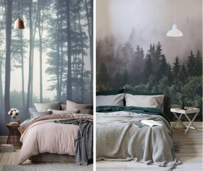 Обои в спальню – что модно в 2019
