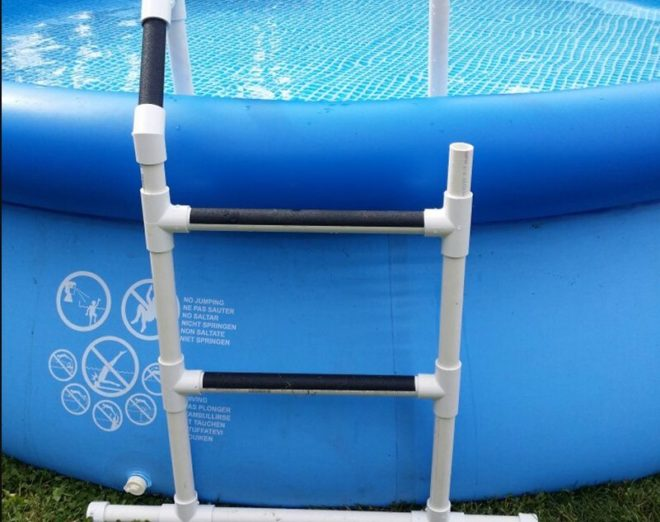 Лестница для бассейна из полипропиленовых труб
