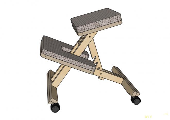 Делаем самодельный коленный стул - доступное средство для правильной осанки