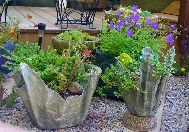 Поделки из цемента – красивое и необычное оформление сада
