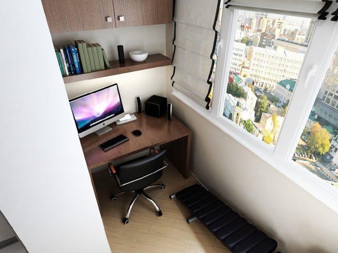позволяет создать рабочее место в однокомнатной квартире фото расти