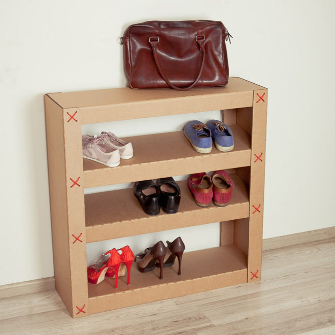 Стеллажи из обувных коробок своими руками