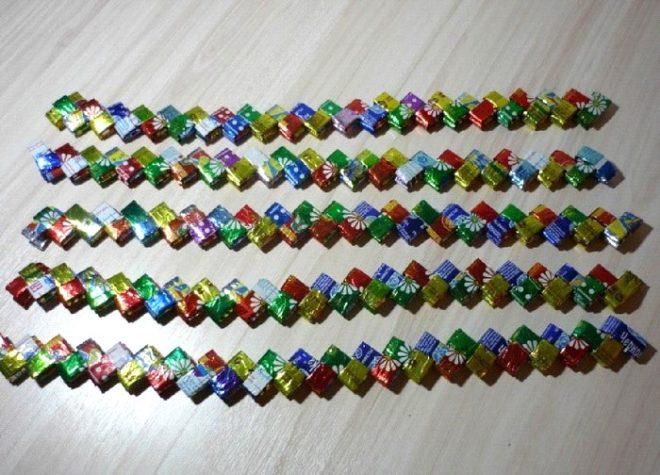 Как использовать конфетные фантики