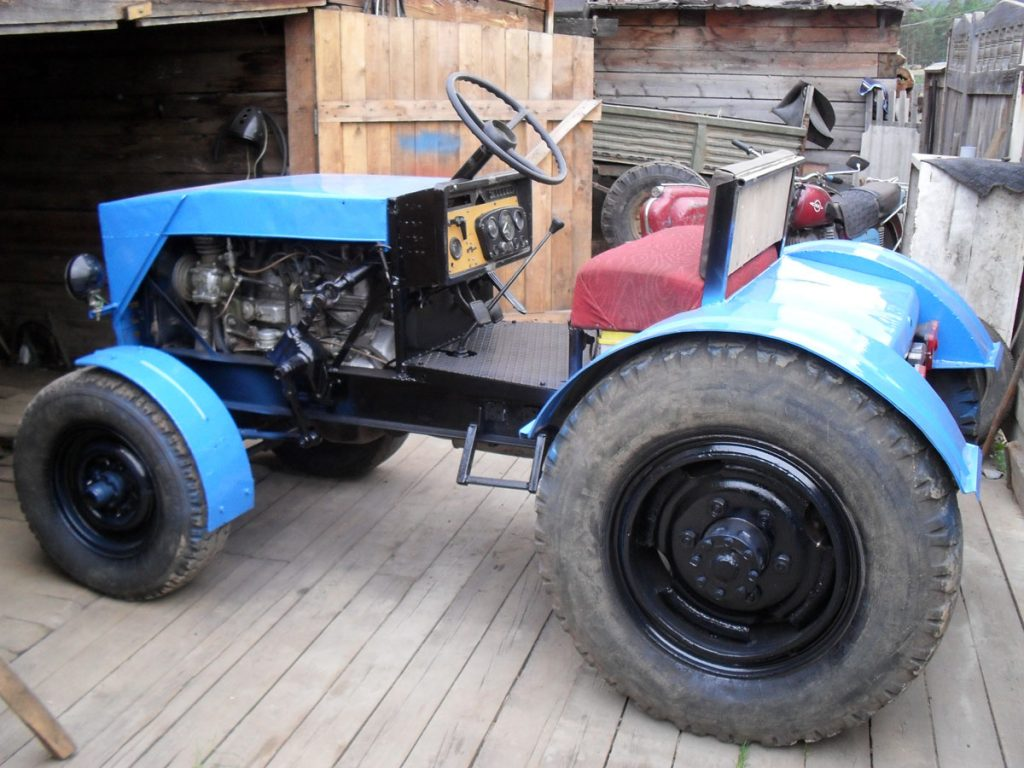 Собираем самодельный мини-трактор в домашних условиях для обработки огорода